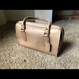 Vintage 1980s Coach Handbag - Tan
